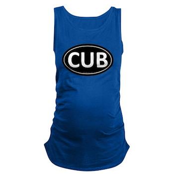 CUB Black Euro Oval Dark Maternity Tank Top