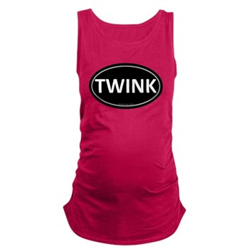 TWINK Black Euro Oval Dark Maternity Tank Top