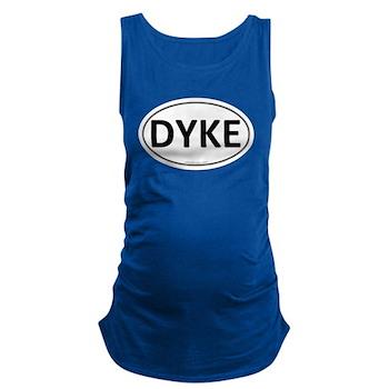 DYKE Euro Oval Dark Maternity Tank Top