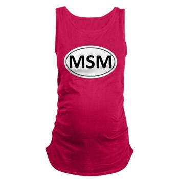 MSM Euro Oval Dark Maternity Tank Top