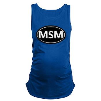 MSM Black Euro Oval Dark Maternity Tank Top