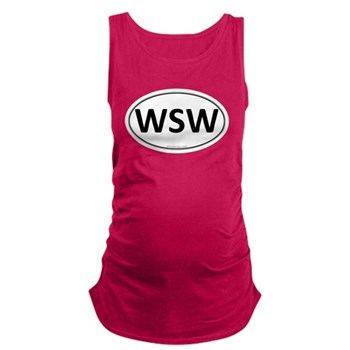 WSW Euro Oval Dark Maternity Tank Top
