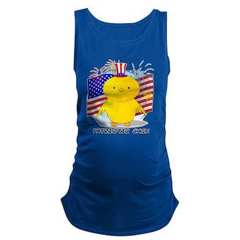 Patriotic Chick Dark Maternity Tank Top