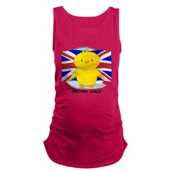 British Chick Dark Maternity Tank Top