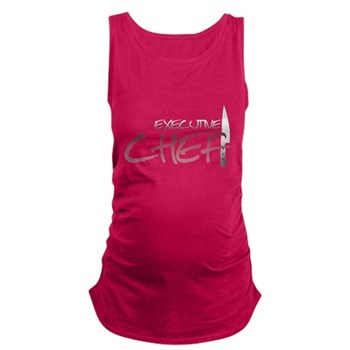 Red Executive Chef Dark Maternity Tank Top