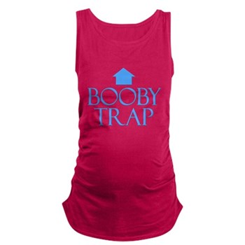 Booby Trap Dark Maternity Tank Top