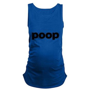 Poop Dark Maternity Tank Top