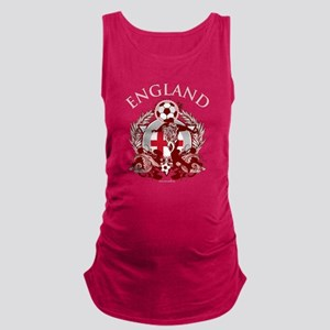 England Soccer Dark Maternity Tank Top