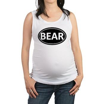 BEAR Black Euro Oval Maternity Tank Top