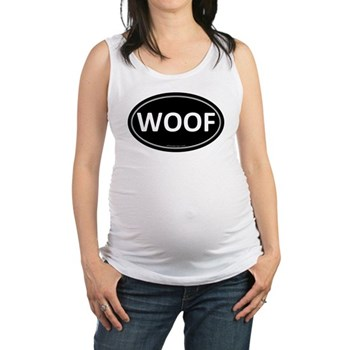 WOOF Black Euro Oval Maternity Tank Top