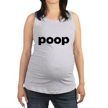 Poop Maternity Tank Top