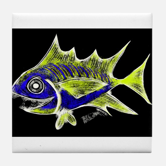 Retro Tuna 1 Art Tile Coaster