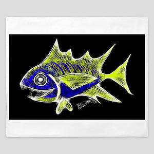 Retro Tuna 1 Art King Duvet