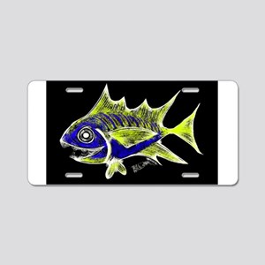 Retro Tuna 1 Art Aluminum License Plate