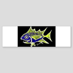 Retro Tuna 1 Art Bumper Sticker