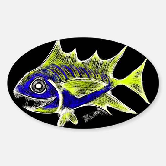 Retro Tuna 1 Art Decal
