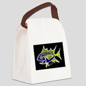 Retro Tuna 1 Art Canvas Lunch Bag