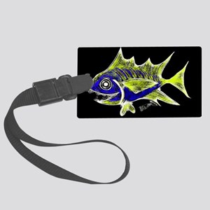 Retro Tuna 1 Art Luggage Tag