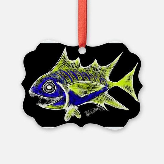 Retro Tuna 1 Art Ornament