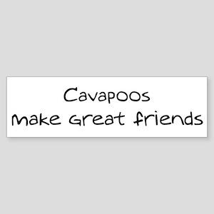 Cavapoos make friends Bumper Sticker