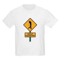 Golf Country Road Sign Kids T-Shirt