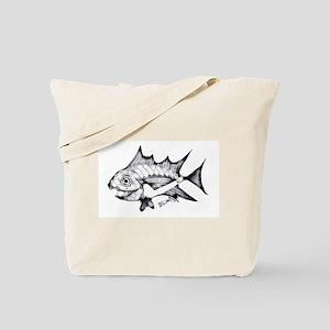 Tuna Fish black and white Tote Bag