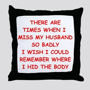husband Throw Pillow