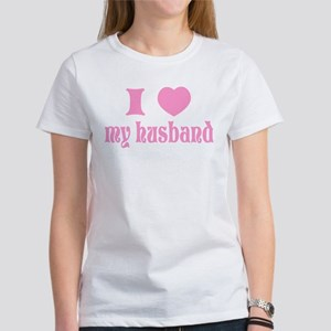 """I love my husband"" Women's T-Shirt"