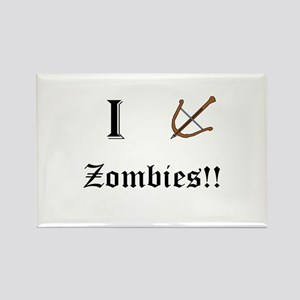 I destory Zombies Rectangle Magnet