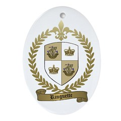 RINGUETTE Family Crest Oval Ornament
