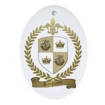 RINGUETTE Family Crest Oval Ornament