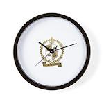 RINGUETTE Family Crest Wall Clock
