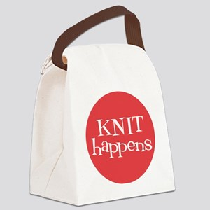 Knit Sassy - Knit Happens Canvas Lunch Bag