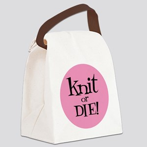 Knit Sassy - Knit or Die Canvas Lunch Bag