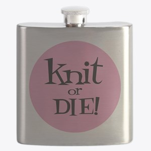 Knit Sassy - Knit or Die Flask