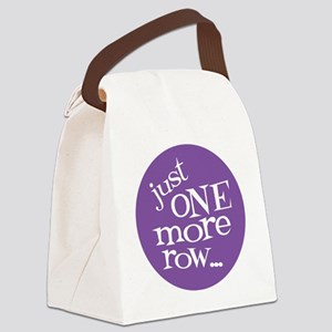 Knit Sassy - Just One More Row... Canvas Lunch Bag