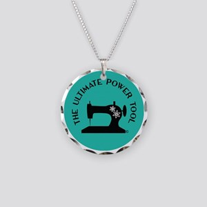 Sew Sassy - Ultimate Power T Necklace Circle Charm