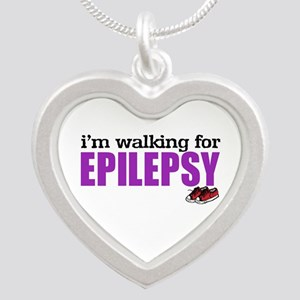 I'm walking for Epilepsy Silver Heart Necklace