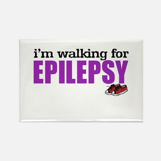 I'm walking for Epilepsy Rectangle Magnet