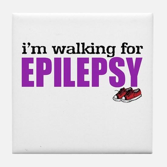 I'm walking for Epilepsy Tile Coaster