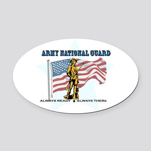 Army National Guard Oval Car Magnet