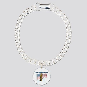 Army National Guard Charm Bracelet, One Charm