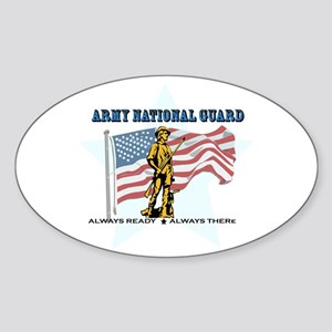 Army National Guard Sticker (Oval)