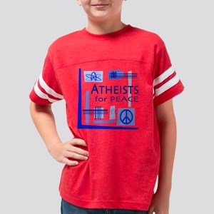 atheists_peace_L_pillow Youth Football Shirt