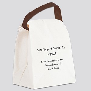 Tech Support Survival Tip Canvas Lunch Bag