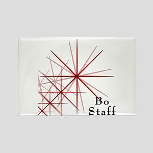 Martial Arts Bo Staff Rectangle Magnet