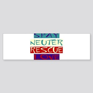 spay neuter rescue love.jpg Bumper Sticker