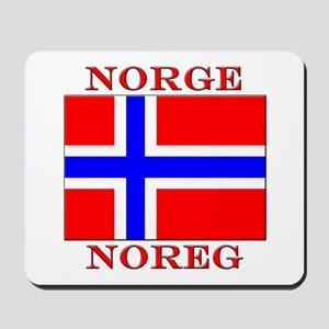 Norge Flag Noreg Mousepad