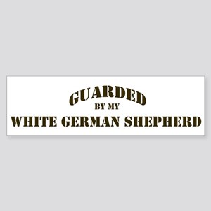White German Shepherd: Guarde Bumper Sticker
