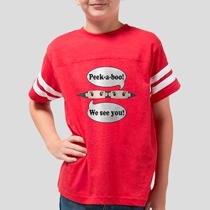 Peek-a-boo! Twins Brown Eyes  Youth Football Shirt